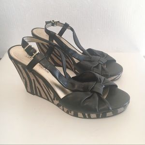 Antonio Melani leather wedge sandals 9.5